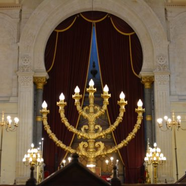 Synagogue de Bordeaux - La menorah
