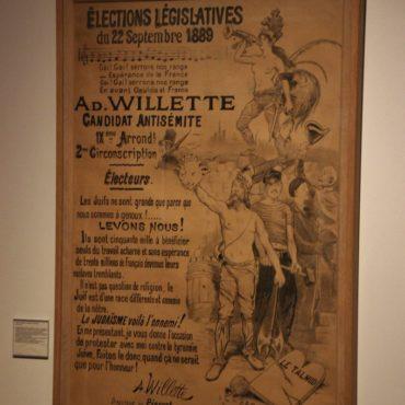 Affiche électorale d'un candidat antisémite