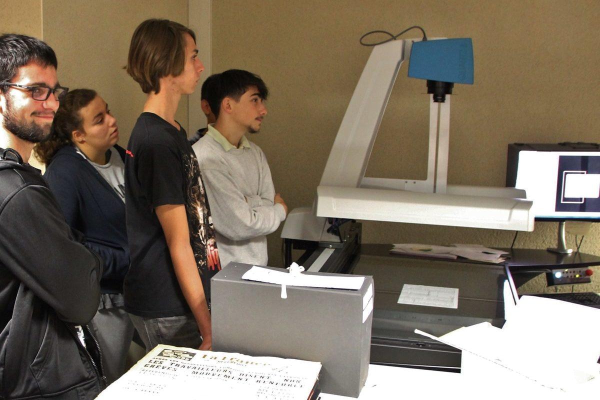 Visite-atelier aux archives départementales de Gironde 2