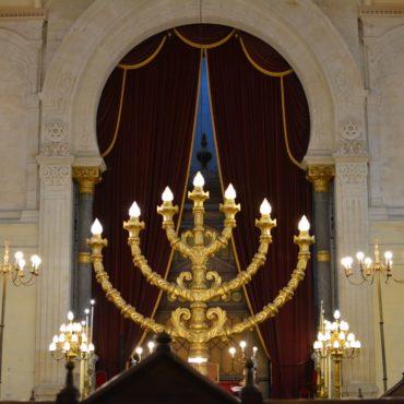Synagogue de Bordeaux - La menorah